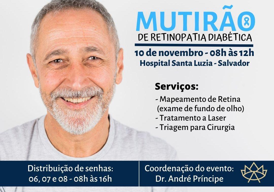 MUTIRÃO GRATUITO DE RETINOPATIA DIABÉTICA É REALIZADO EM SALVADOR